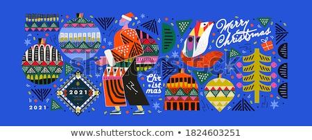 December winter vakantie christmas snuisterij bal Stockfoto © robuart