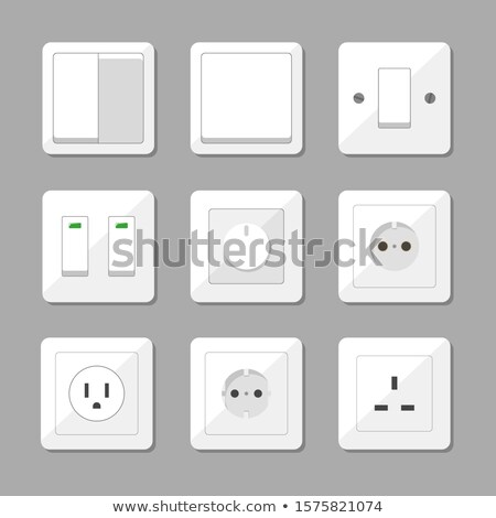 vector set of electric switch and plug Foto stock © olllikeballoon
