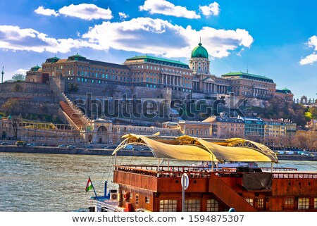 Budapest Danube river waterfront architecture springtime view Stock photo © xbrchx