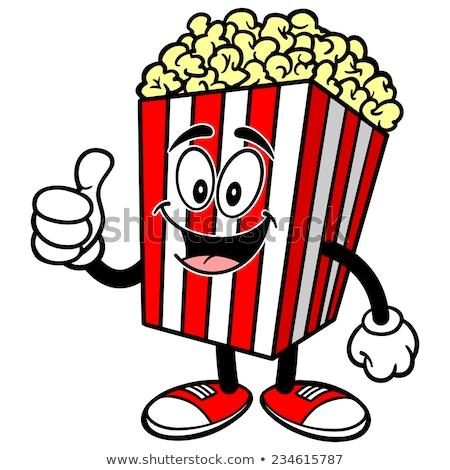 Popcorn mascot stock photo © carbouval