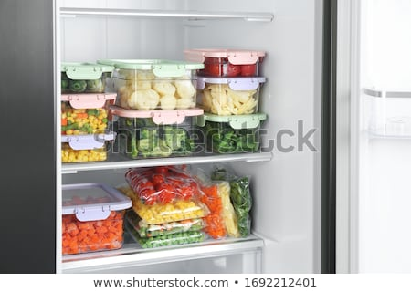 Frozen Vegetables In The Fridge Stock photo © AndreyPopov