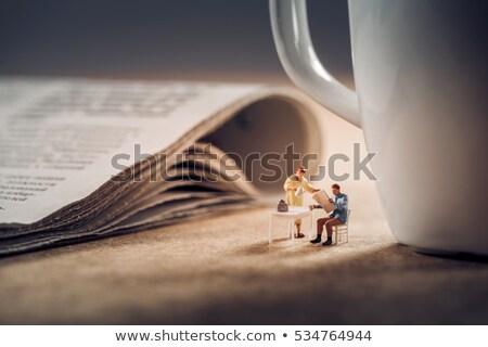 Break for tea and news Stock photo © pressmaster