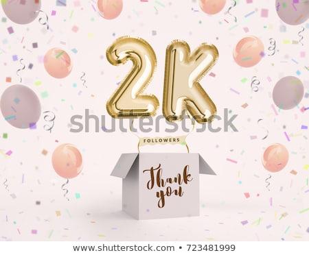 thank you 2k followers or 2000 subscribers celebration backgroun Stock photo © SArts