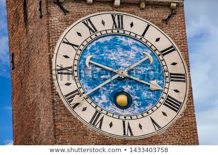 Bissara tower mechanical clock at Basilica Palladiana old belfry Stock photo © boggy
