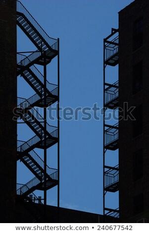 Fogo escapar lado edifício Foto stock © njnightsky