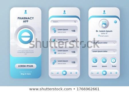 Sprzedaży app interfejs szablon sprzedawca rozwiązanie Zdjęcia stock © RAStudio