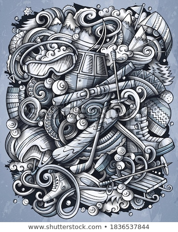 冬 スポーツ 手描き ベクトル 実例 ストックフォト © balabolka