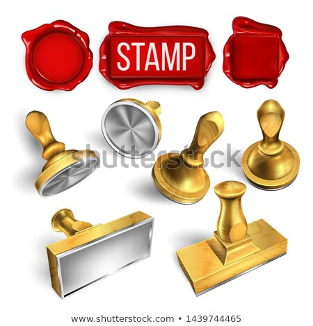 Collection Of Wax Seal And Stamp Cliche Set Vector Stock photo © pikepicture