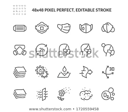Illness Disease Bacteria Vector Thin Line Icon Stock photo © pikepicture