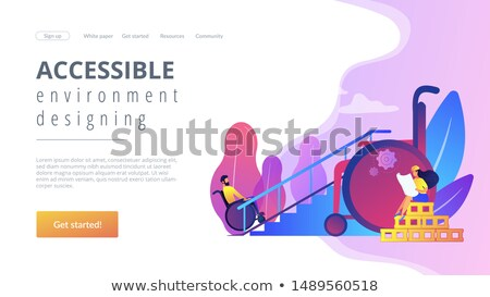 Accessible environment designing concept landing page Stock photo © RAStudio