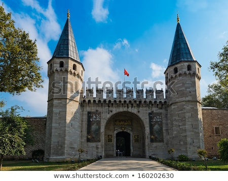 Belső palota Isztambul Törökország elképesztő gyönyörű Stock fotó © boggy