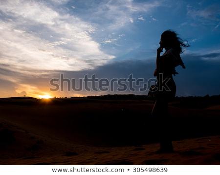 Mulher jovem deserto Vietnã menina natureza corpo Foto stock © galitskaya