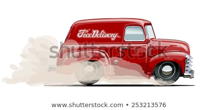 Vector Cartoon retro delivery van Stock photo © mechanik