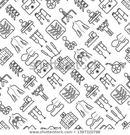 orthopedic crutch medical equipment vector icon stock photo © pikepicture