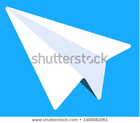 Electronic Library Icon, Paper Plane, Messenger Stock photo © robuart