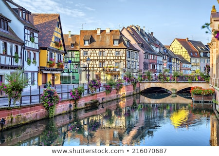 embankment of  Lauch River, Colmar, France Stock photo © borisb17