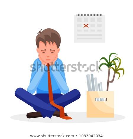 frustrato · imprenditore · seduta · desk · ufficio · utilizzando · il · computer · portatile - foto d'archivio © andreypopov