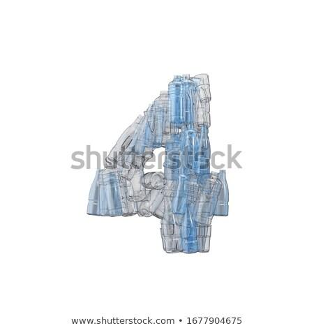 番号 4 プラスチック 廃棄物 ボトル 汚染 ストックフォト © lightkeeper
