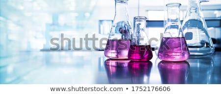 Chemia laboratorium płytki kolor uśmiech Zdjęcia stock © lightpoet