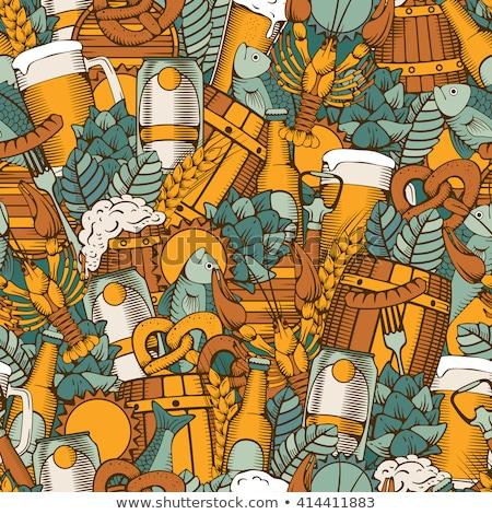 Oktoberfest beber alimentos colorido cerveza Foto stock © barsrsind