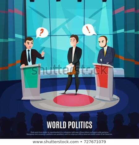 Político tv mostrar debate oponente Foto stock © jossdiim