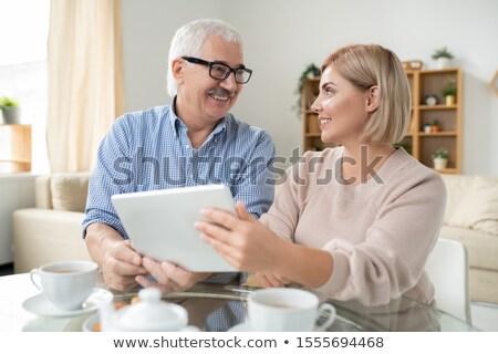 Heureux jeunes Homme supérieurs père Photo stock © pressmaster