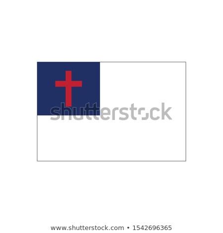 örnek Hristiyan inanç bayrak beyaz kızıl haç Stok fotoğraf © kyryloff