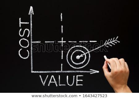 Költség érték mátrix grafikon üzlet kéz Stock fotó © ivelin