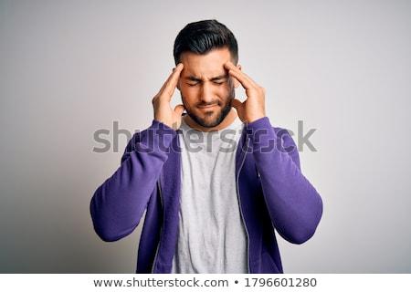 Homem dor de cabeça problema homem branco branco homens Foto stock © Lopolo