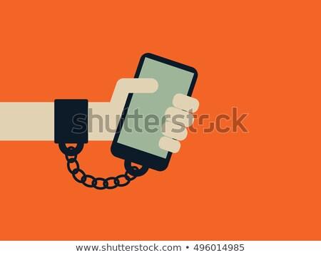 Technológia függőség vektor metafora hiány élet Stock fotó © RAStudio