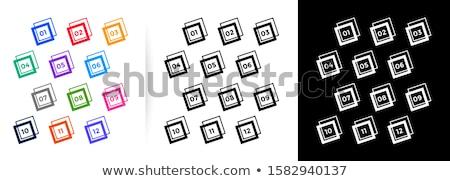 Abstrato bala pontos grande conjunto um Foto stock © SArts