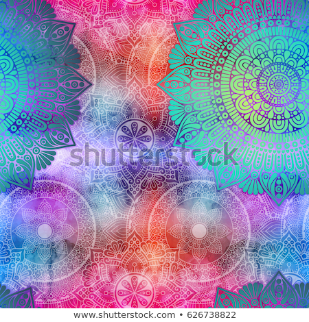 Native Seamless Pattern from mandala Stock photo © barsrsind