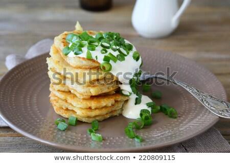 Tejföl fanyar krumpli Stock fotó © Pheby