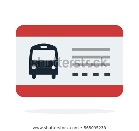 Public transport travel pass card concept vector illustration. Stock photo © RAStudio