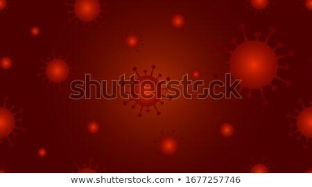 Stock photo: Coronavirus Dark Background