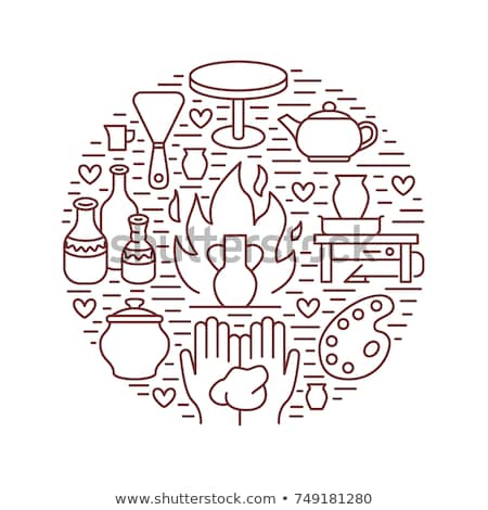 pottery tools icon vector outline illustration Stock photo © pikepicture