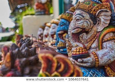 Typowy bali słynny rynku twarz sztuki Zdjęcia stock © galitskaya