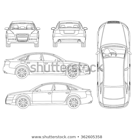 checked documents for car icon vector outline illustration Stock photo © pikepicture