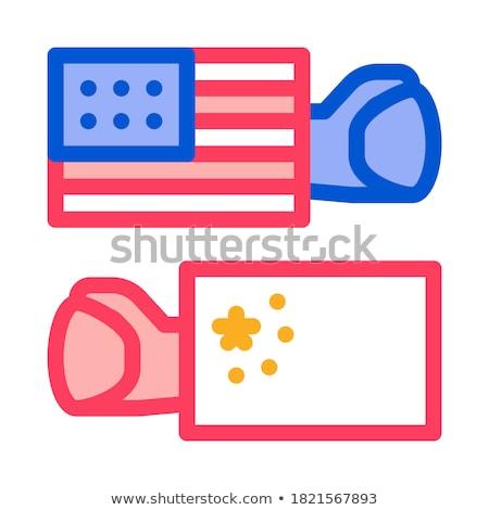 Comércio guerra em torno de mundo ícone vetor Foto stock © pikepicture