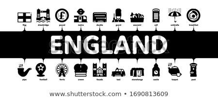 Inglaterra Reino Unido mínimo bandeira vetor Foto stock © pikepicture