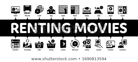 Renting Movies Service Minimal Infographic Banner Vector Stock photo © pikepicture