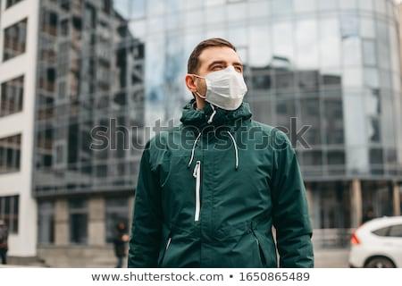 男 市 医療 マスク クローズアップ ストックフォト © olira