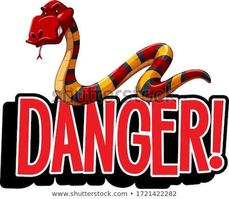 Dizayn kelime tehlike yılan Stok fotoğraf © bluering