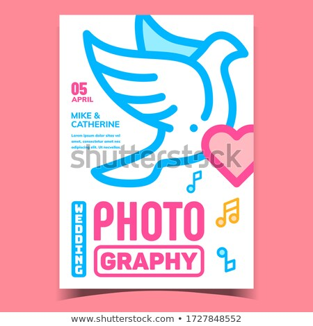 Wedding Photography Advertising Banner Vector Flat Illustration Stock photo © pikepicture