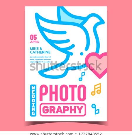 Düğün fotoğrafçılık reklam afiş vektör örnek Stok fotoğraf © pikepicture