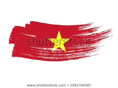 Grunge borstel Vietnam vlag witte geïsoleerd Stockfoto © evgeny89