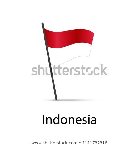 Indonésia bandeira pólo elemento branco Foto stock © evgeny89