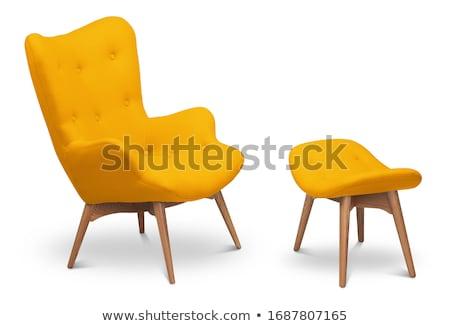 офисные кресла мебель белый металл Председатель ткань Сток-фото © yupiramos