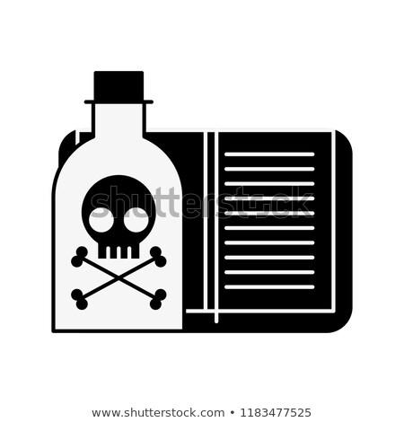Gif fles risico boek laboratorium achtergrond Stockfoto © yupiramos
