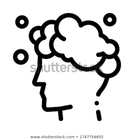Mosás fej sampon ikon vektor skicc Stock fotó © pikepicture